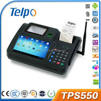 Telpo TPS550 Cheap price android handled pos device with RFID/MSR support 3G/Wifi all in one pos terminal
