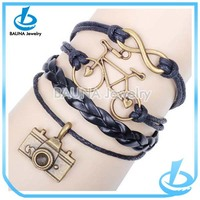 Wholesale cute retro leather bracelet watch camera