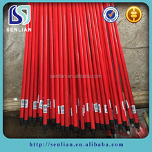 Factory directly sales pvc coated wood broom stick with Italian Thread