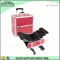 aluminum travel rolling makeup cosmetic train case