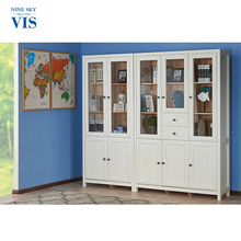 Quality Assurance Modern Furniture Large Tall White And Wood Bookcase With Cabinet For Sale
