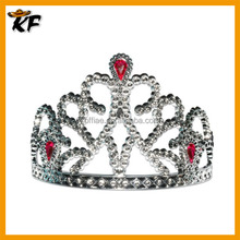 cheap large custom crystal glass pageant queen crown
