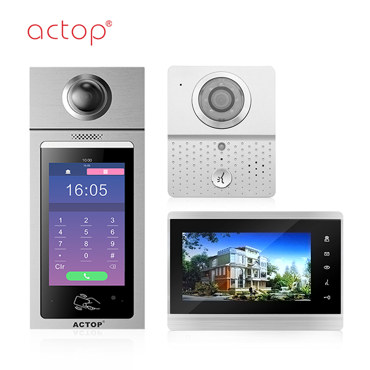 Shenzhen manufacture ACTOP New design TCP/IP video door phone for unit house of multiple building intercom system