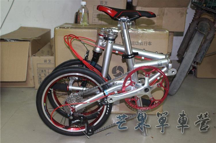 "Steel Folding Bike 16"" Minivelo Mini velo Bike Urban Bicycle overall bike V Brake 9 Speed"