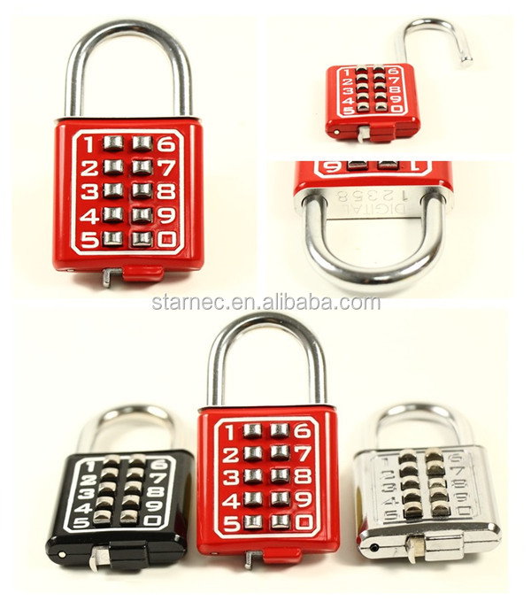 2016 New Product Fashion Zinc Alloy Mini Padlock With Code