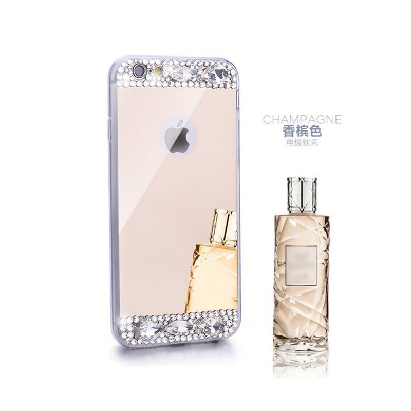 Bling Rhinestone Diamond TPU Mirror Case For Samsung Galaxy S6 S6Edge S7 S7Edge S8 S8plus