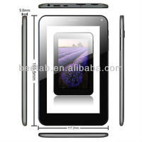 7 inch tablette+tactile+avec+carte+sim android 4.1 tab,gps,hdmi,MTK6577,3G,2G calling