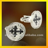 best quality metal enemal cross cuff link paypal fast shipping