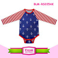 Anchors body red chevron raglan baby romper cotton infant baby snap crotch bodysuit