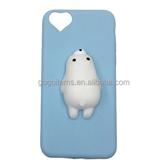 lovely 3D panda rabbit cat waterproof cell tpu mobile cover squishy phone case for protecting iphone 6s