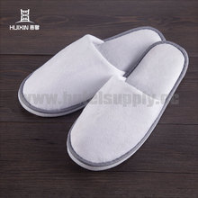 JET-SL-147 White Towelling Hotel Disposable Latest Design Slipper Sandal