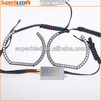 Multicolor changing square rings 100mm 5050smd led angel eyes for bmw F30 style E90E92E93 headlight