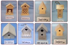 Pine Type and Home Decoration Use wooden bird house