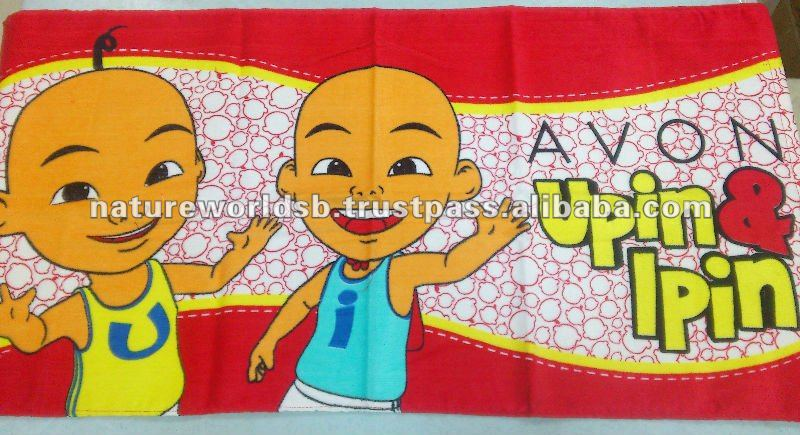 Kid Bath Towel with reactive printed