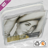 hot selling clear zippered vinyl portable pvc cosmetic bag