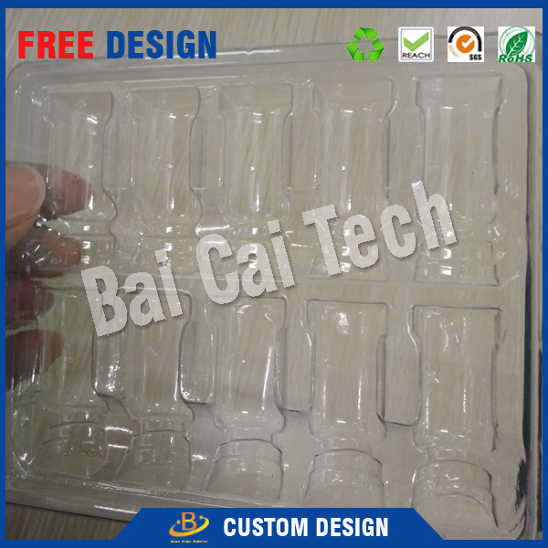 Customized professional transparent small plastic pill counting tray