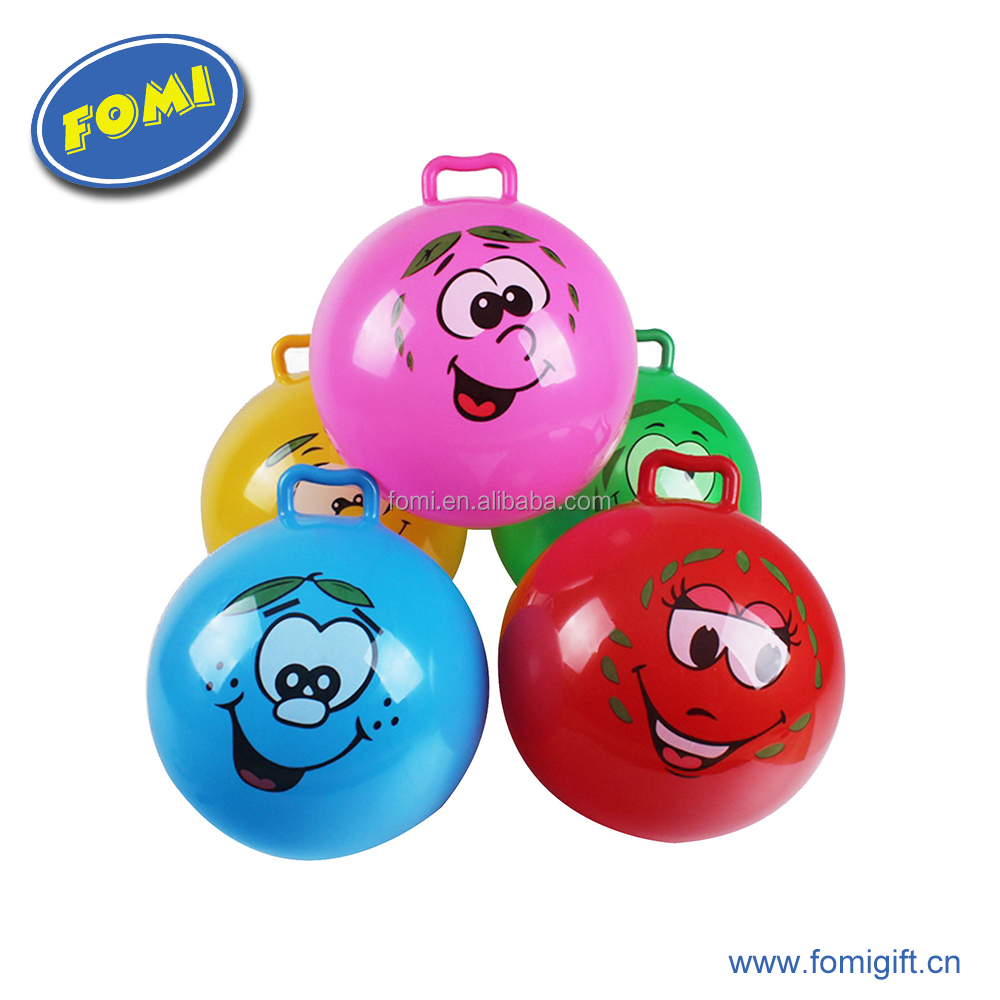 10 inch hot sale pvc balls children handle jumping ball customized