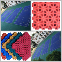 high impact and good rebound used badminton court flooring with gridded surface