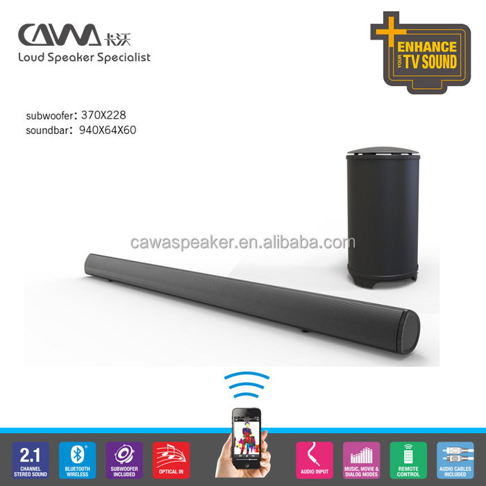 "Subwoofer Speak Soundbar Sound Bar Box 6.5"" subwoofer unit with Paper-roll speaker box body construction For TV"