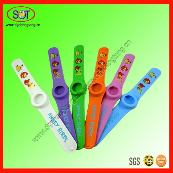 Hot silicone rubber slap watch band wholesale