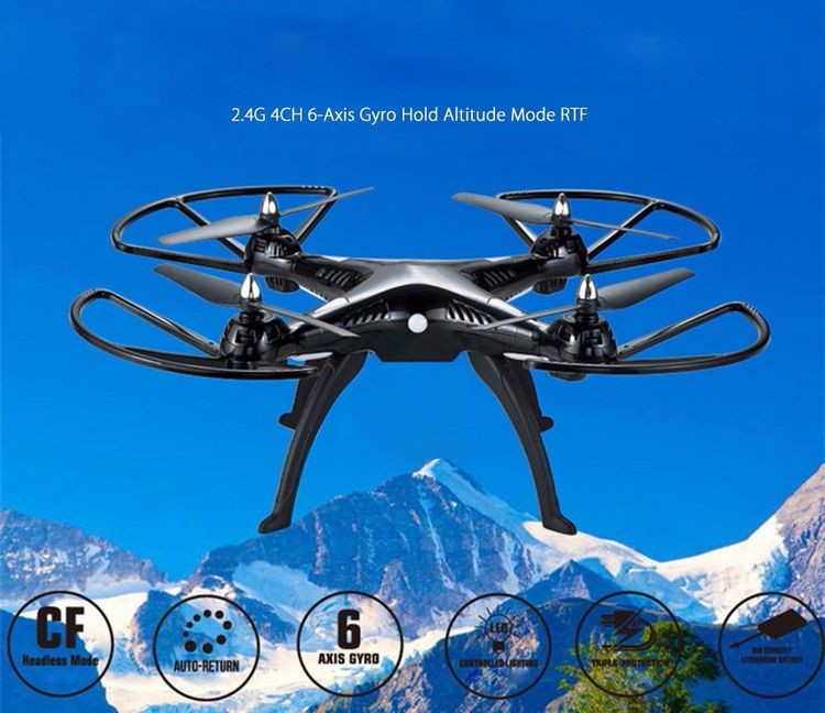 147899B-2.4G 4CH 6-Axis Gyro RC Quadcopter RTF - BLACK