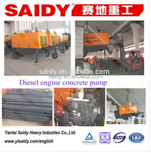 Mobile Trailer Type cement pumping machine, 15m3/h cement pump