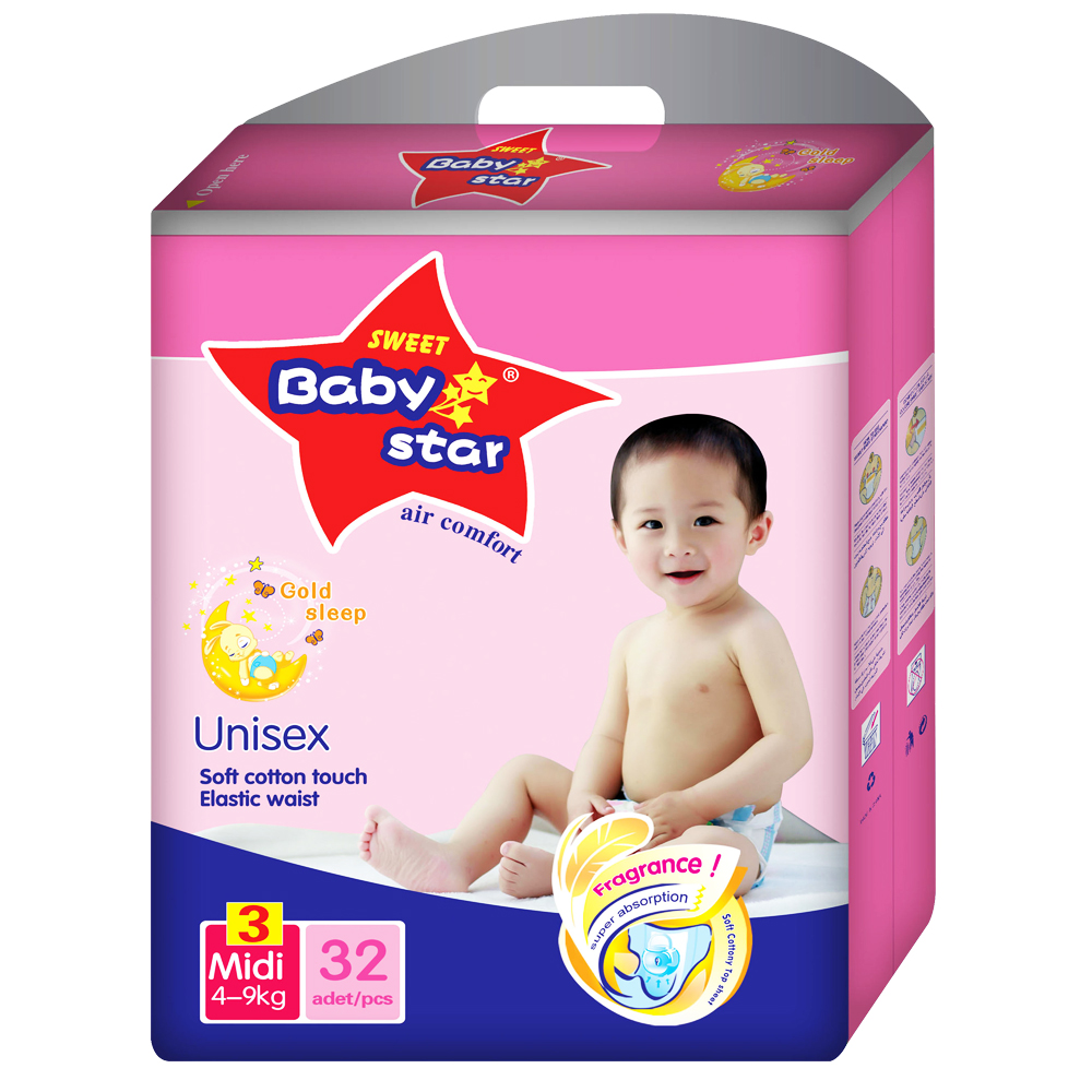 Economical disposable baby diaper fujian factory sleepy baby diapers low price