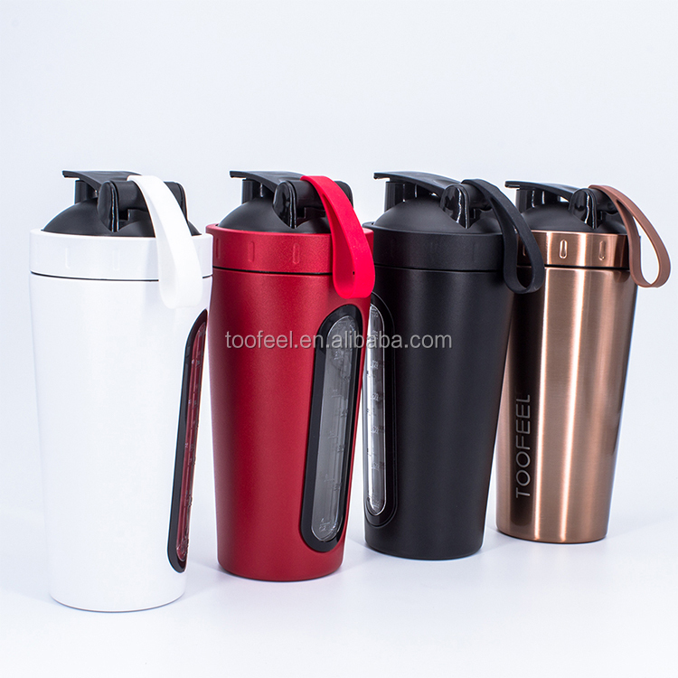 2019 Protein Powder Shaker BPA FREE, Patent Stainless Steel Mixer Shaker Bottle
