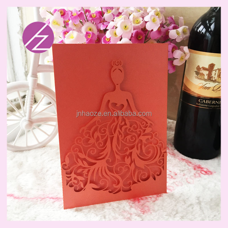 wedding invitation cards pattern door card lampshade paper QJ-68