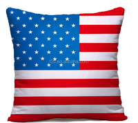 United States of America flag pattern cushion cover