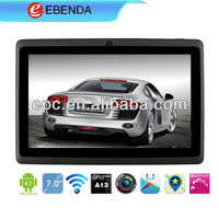 Colorful 7 inch tablet pc with allwinner a13 4GB camera anroid 4.1 mid tablet free games download