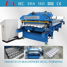 0.3mm thickness metal roof step tile roll forming machine