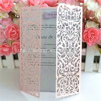 Laser cut Europe Regional Feature elegant wedding invitations made in china