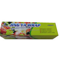 factory sale pvc stretch film/pvc cling film packaging with color box by OEM
