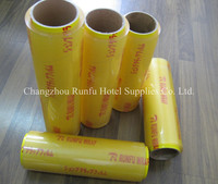 thick plastic roll transparent PVC cling film for plastic wrap