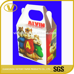 Customized cartoon food grade take away food packing box