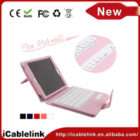 Detachable ABS mini bluetooth keyboard for tablet bluetooth keayboard case for ipad mini 2 pink
