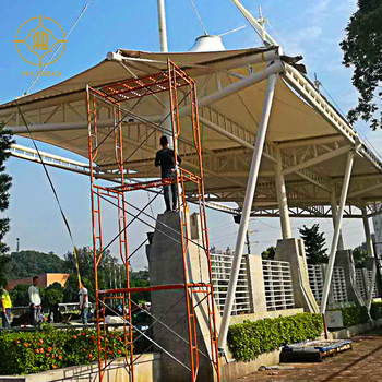 Membrane Structure Stadium Stand with Steady Steel Structure/Sports center tensile canopy