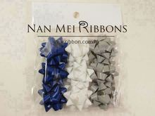Star Bow 1.5 inches dia. Matte Solid Ribbon Gift Wrapping Decoration