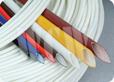 Silicone rubber coated Fiberglass insulation tubing