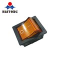 16A electric motorcycle switch illuminated orange yellow on off 4 pin rocker switch KCD4