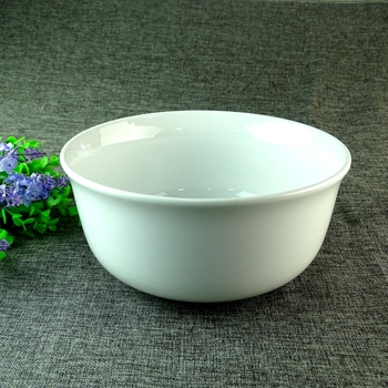 Stock 10 Inch China Big White Ceramic Soup Bowl For Daily&Restaurant Use