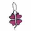Tryme jewelry18P227-D Western style bulk wholesale cheap price 925 sterling silver vintage plated pink coloer flower charms
