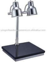 Stainless steel heating lamp with cutting board