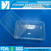 Clear rectangular meal big plastic container with lids