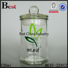 custom large glass container with lid airtight glass container storage glass jar for tea