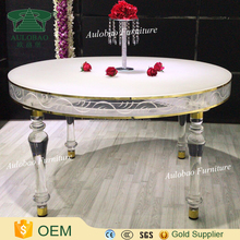 Luxury Romantic design round shape acrylic dining table