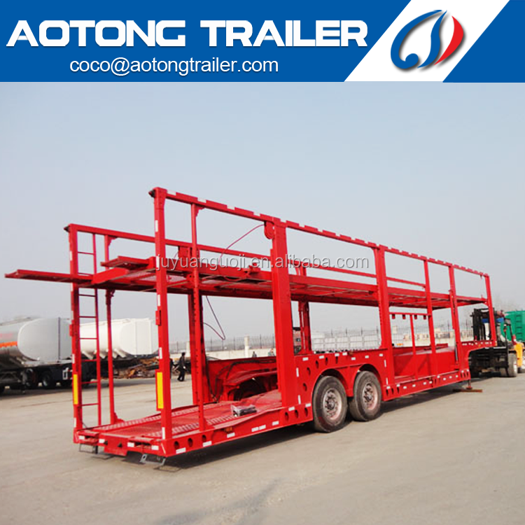 China 2 <strong>axles</strong> <strong>car</strong> carrier truck trailer size optional 16M 8 units vehicle transporter semi trailers for sale