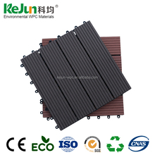 WPC interlocking swimming pool decking tile composite outdoor