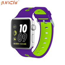 2017 New design colorful sports watch band 38mm/42mm silicone watch strap for apple watch